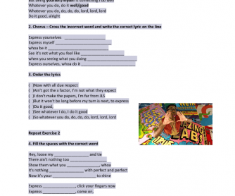 20 free reflexive pronouns worksheets song worksheet express yourself by labrinth solutioingenieria Image collections
