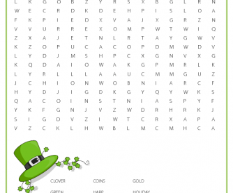 photo about St Patrick Day Puzzles Printable Free named 40 Absolutely free Saint Patricks Working day Worksheets