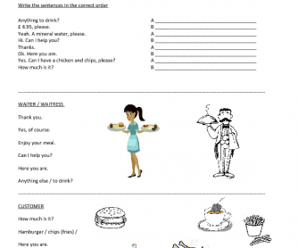 77 FREE Restaurants and Cafes Worksheets