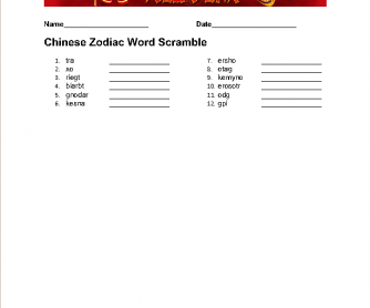 1d222721f 22 FREE Horoscopes/Zodiac Sign Worksheets