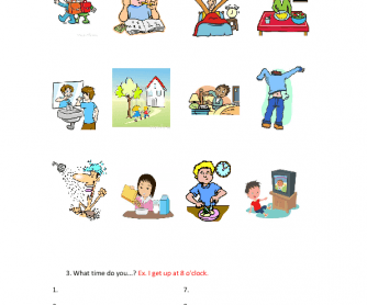 124 free telling time worksheets and activities daily routines worksheet for kids ibookread ePUb