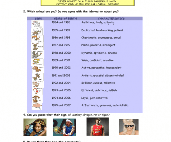 22 FREE Horoscopes/Zodiac Sign Worksheets