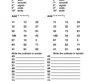 56 free ordinal numbers worksheets ordinal numbers ibookread Download