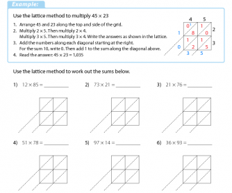 free math worksheets teach math with confidence lattice multiplication