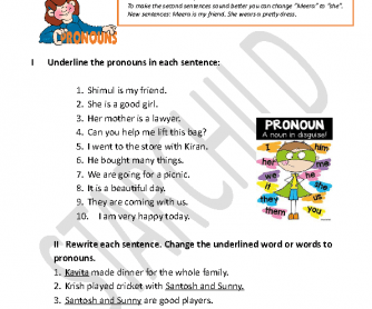 159 Free Personal Pronouns Worksheets It is you, he and i which is correct. 159 free personal pronouns worksheets