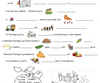 Thanksgiving Worksheet For Kids Worksheets for all | Download and ...