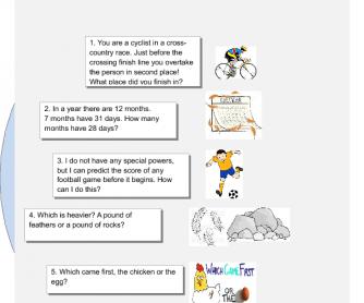 80 FREE Brainteasers Worksheets