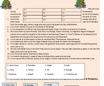 357 FREE Christmas Worksheets, Coloring Sheets, Printables and Word ...