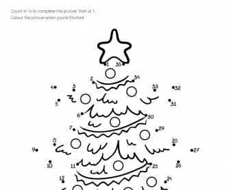 dot to dot christmas tree