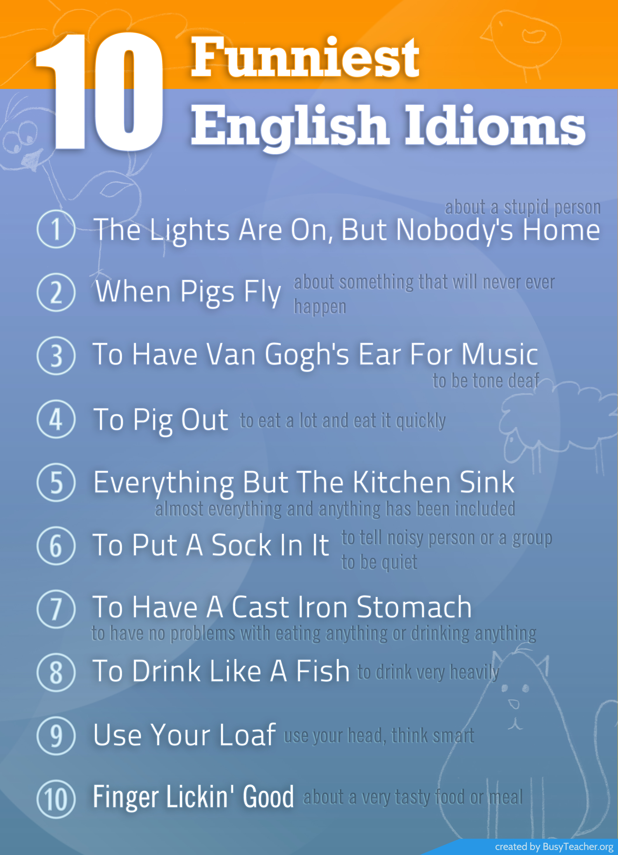 Funny English Idioms