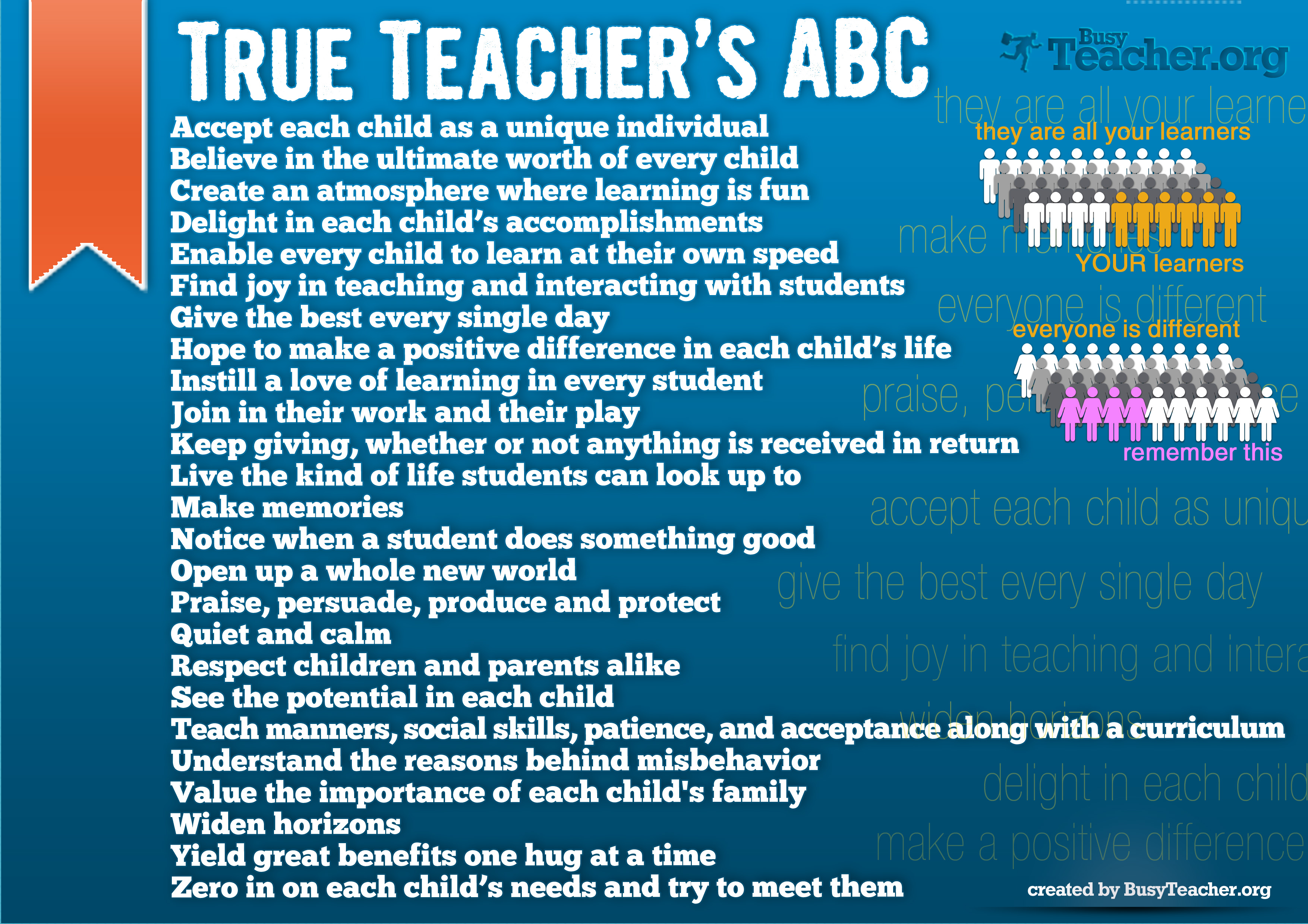 True Teachers ABC Poster