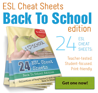 ESL Cheat Sheets: Back To School Edition
