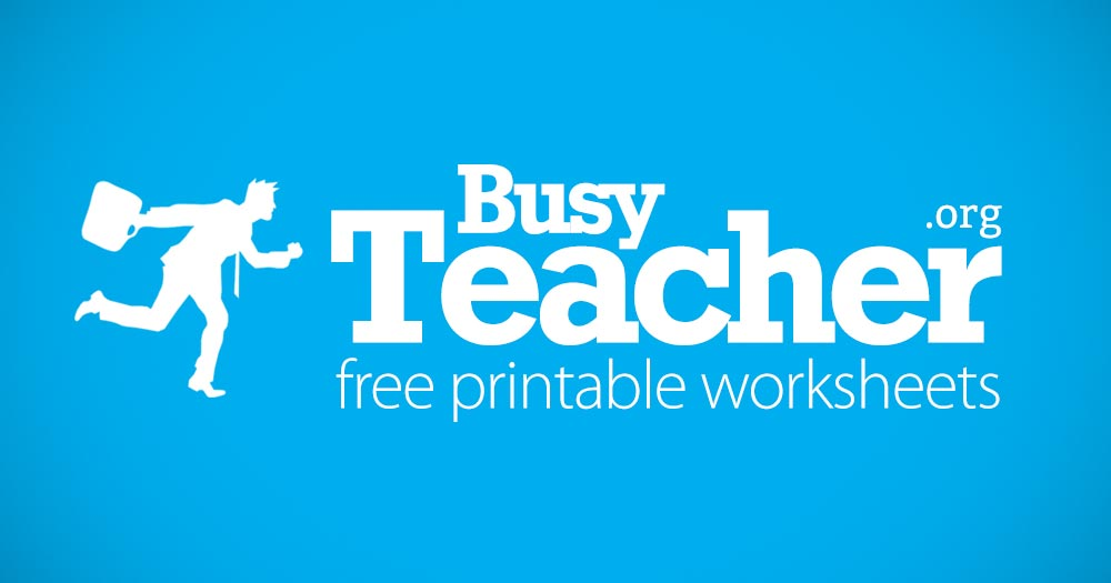 BusyTeacher: Free Printable Worksheets For Busy Teachers Like YOU!