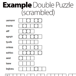 Example Double Puzzle Scrambled