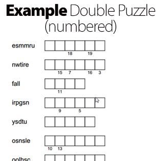 Example Double Puzzle (Numbered)