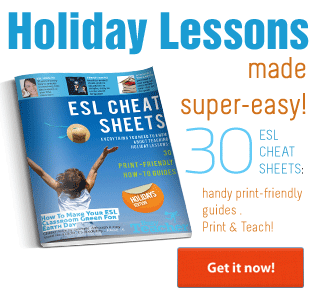 Busy Teacher's ESL Cheat Sheets: Holidays Edition