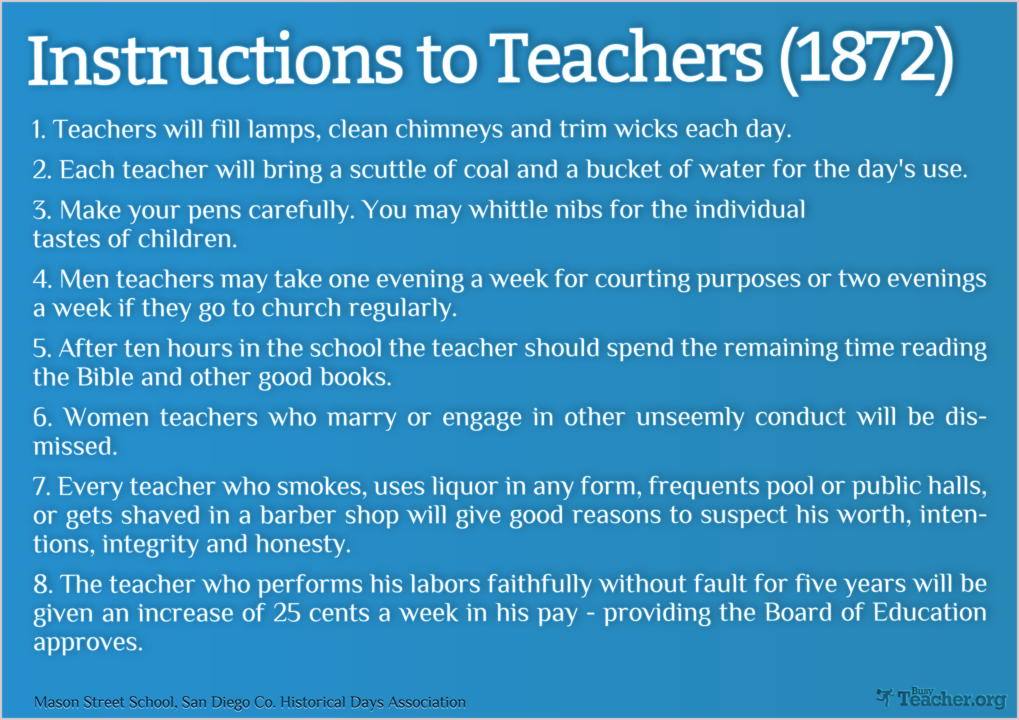 Instructions To Teachers 1872