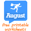 August worksheets