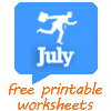 July worksheets