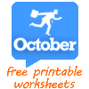 October worksheets
