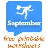 September worksheets