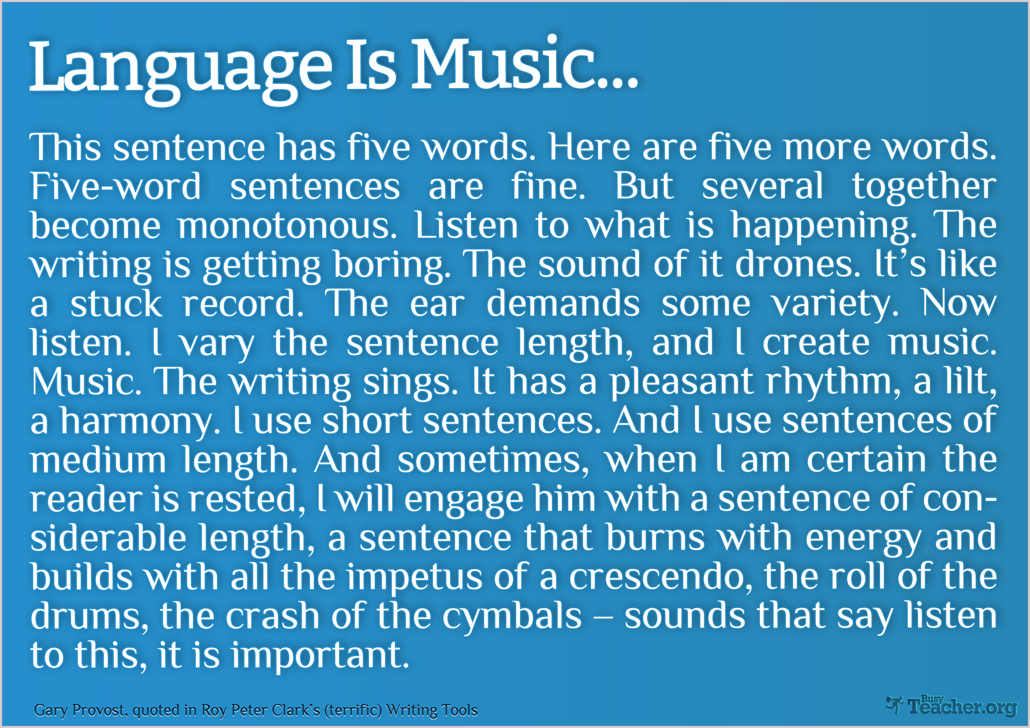 Language and music