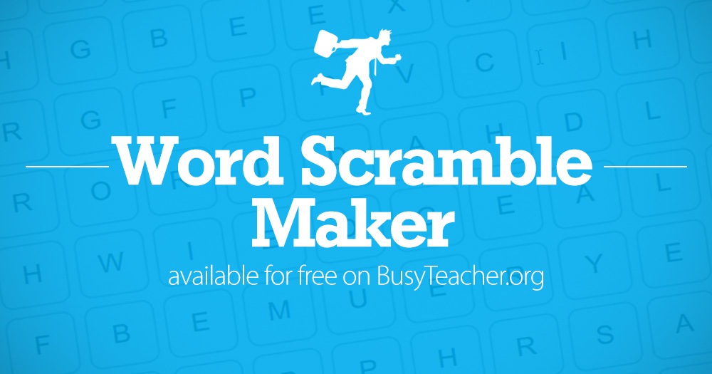 FREE Word Scramble Maker: Make your own word scramble!