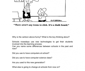 Used to - questions - school - past