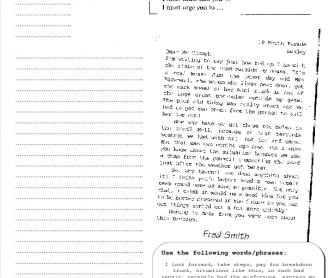 A letter of complaint (S)