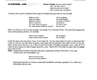 Jobs Quiz 2