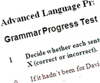 Preliminary Grammar Test for Advanced Learners 2