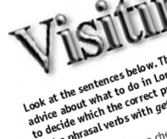 Visiting Longon: Phrasal Verbs with 'GET' Worksheet
