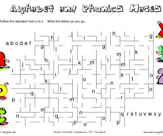 Alphabet maze 1