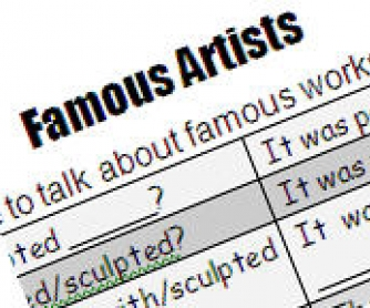 Famous Artists and Their Work - Passive Voice Pairwork Worksheet