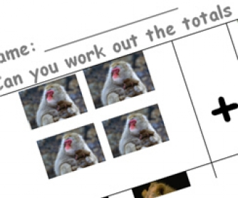 Add the Animals - Math Printable Worksheet