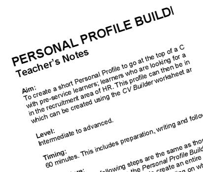 how to write a personal resume