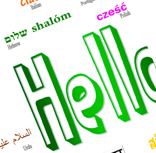 Hello in Different World Languages Printable Poster