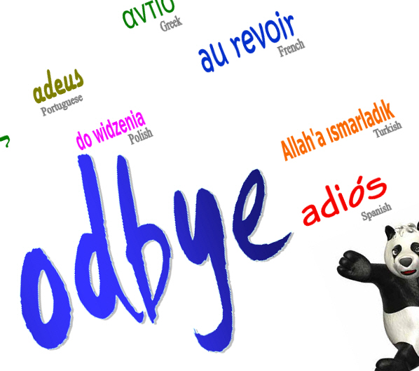 Poster: Good-Bye in Many Languages