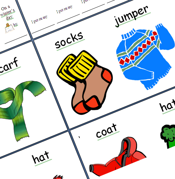 Printable worksheet with colour flashcards to practice the vocabulary ...