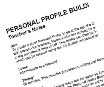 CV Builder: Writing Activity