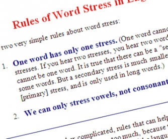 Word Stress Rules in English