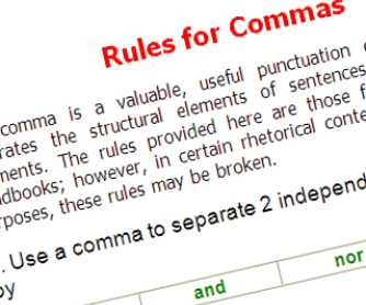The Rules of Comma