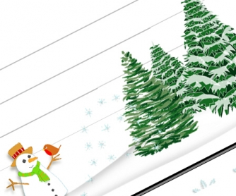 Christmas Borders: 10 Pages of Amazing Christmas Letter Borders 1