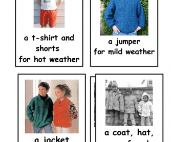 and Clothes Flashcards