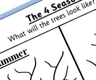 Seasons Printable Worksheet