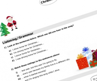 Christmas Song Worksheet: Driving Home For Christmas (WIH VIDEO)