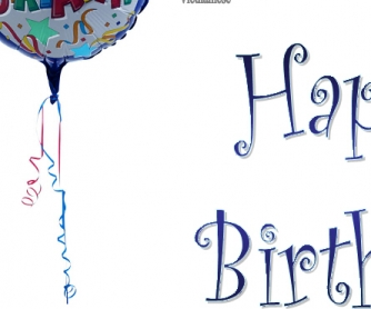 Poster: Happy Birthday in Many Languages