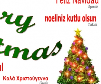 Poster: Christmas in Many Languages
