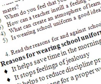 School Uniform Printable Worksheet