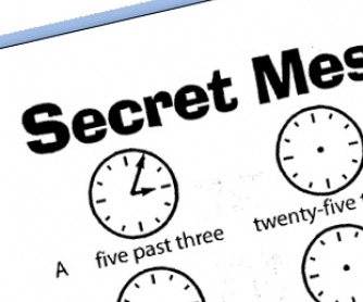 Secret Message: Telling The Time Worksheet